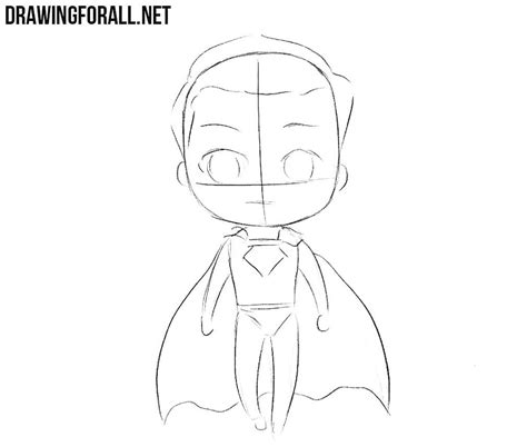 How to Draw Chibi Superman   Drawingforall