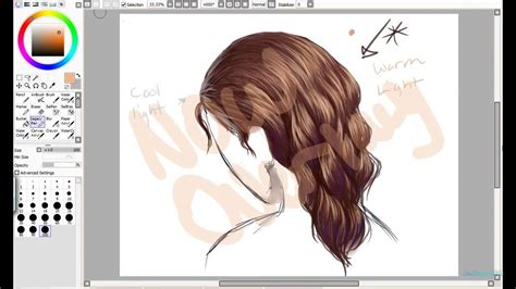 How to Draw Hair On Paint Tool Sai - YouTube