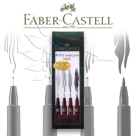 Faber-Castell Artist Brush Pen- different thicknesses