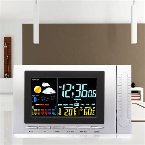 Classic Weather Station Alarm Clock Color Screen Backlight
