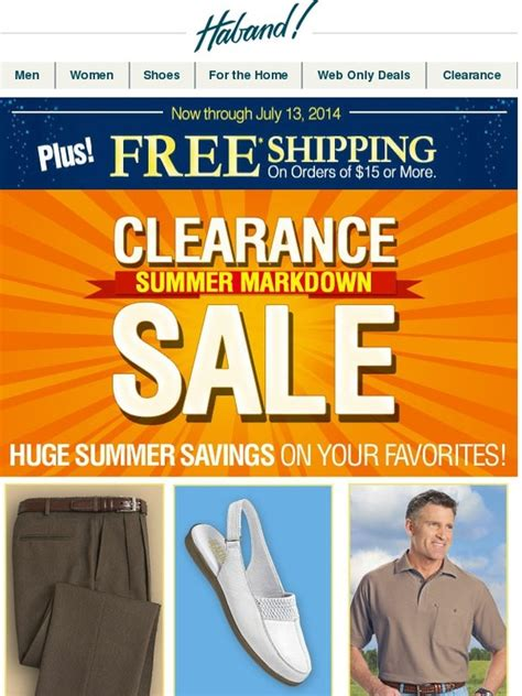 Haband: Clearance Summer Markdown Sale + FREE Shipping