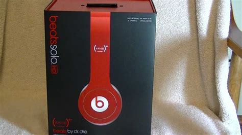 Beats by Dr Dre Solo HD RED Unboxing - YouTube