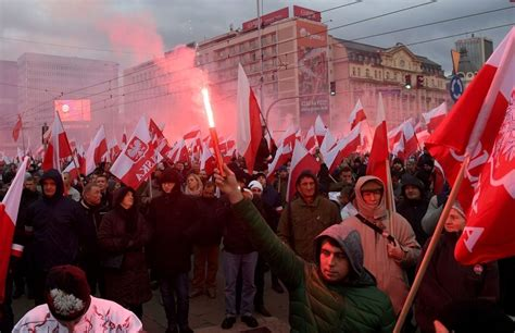 60,000 join far-right 'White Europe' march on Poland