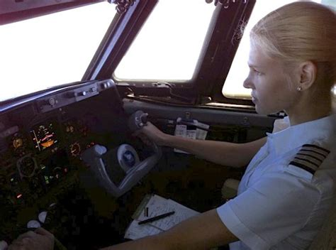Most awesome girl pilot in command of Gulfstream Jet