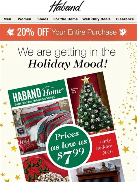 Haband: The New Home Early Holiday Catalog has Mailed