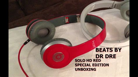 Beats By Dr Dre Solo HD Red Special Edition Unboxing - YouTube