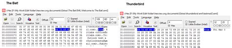 Hex View EML Files Code and Structure using Hexadecimal Viewer